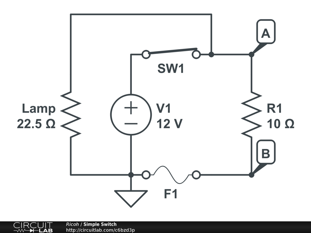 Illuminated Spst Switch Basic Electronics New To Circuit Diagramscircuitlab Online Schematic Editor I