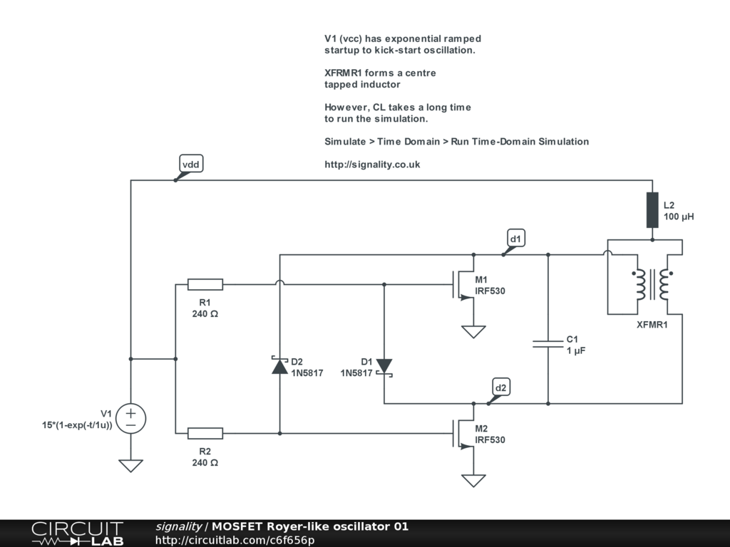 Help With Induction Heater Analysis Circuitlab Support Forum Mosfet Circuit Design Heres A Fixed Version To Play