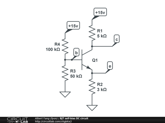 bjt self-bias dc circuit