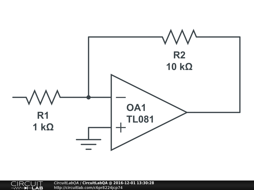 Calculate input and output impedance of inverting amplifier