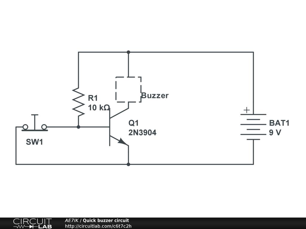 Quick buzzer circuit - CircuitLab