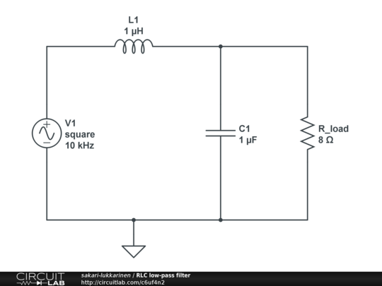 Download Free Rc Low Pass Filter Circuit Schematics
