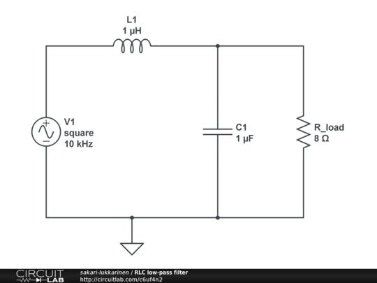 RLC low-pass filter - CircuitLab