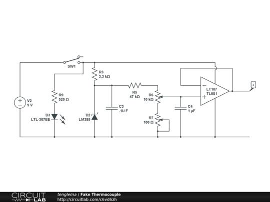 Fake Thermocouple - CircuitLab