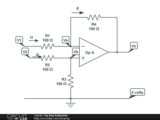 op amp subtractor