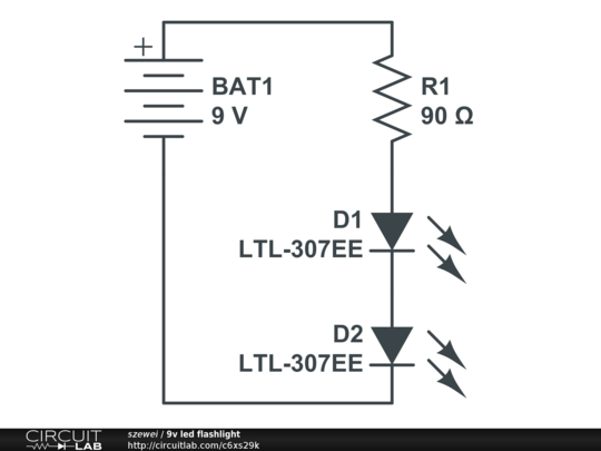 led wiring diagram 9v   21 wiring diagram images