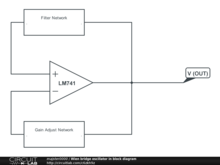 Wien bridge oscillator in block diagram