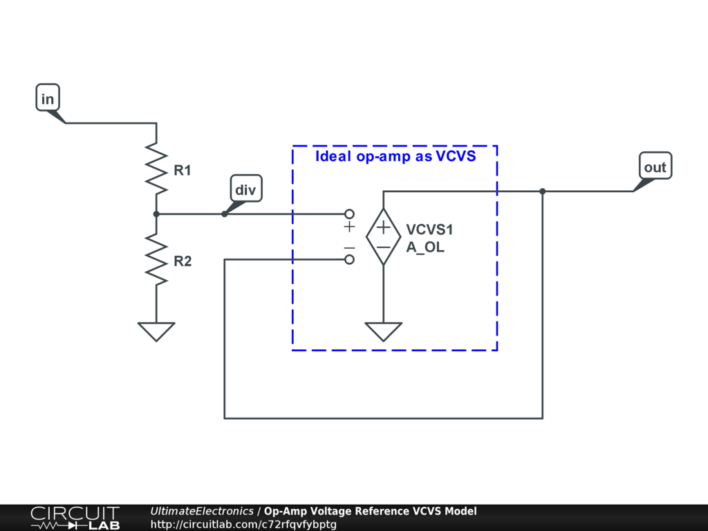 Op-Amp Voltage Reference VCVS Model