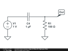 Copy of Mikes RC High-pass filter