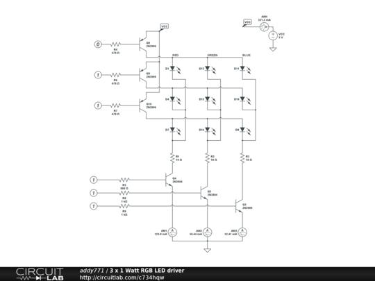 3 x 1 Watt RGB LED driver - CircuitLab  Watt Led Rgb Wiring Diagram on