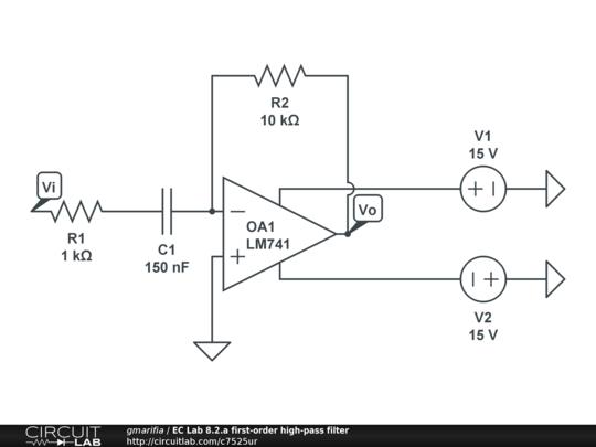 ec lab 8 2 a first-order high-pass filter