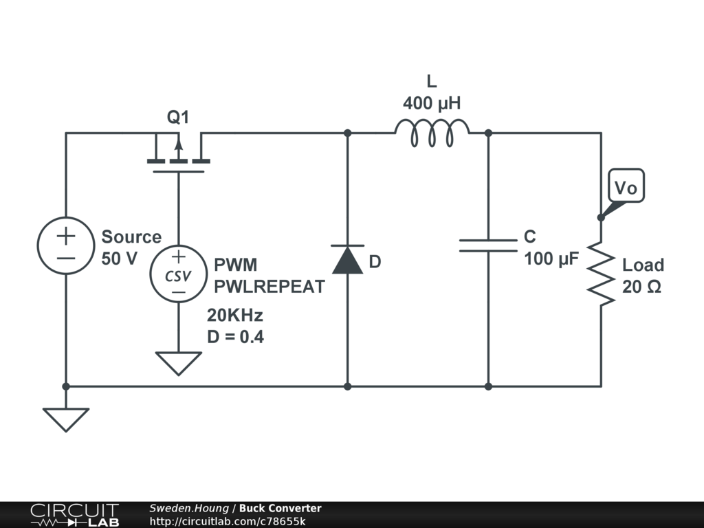 Buck Converter Circuitlab Mosfet Circuit Examples