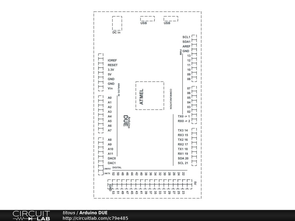 arduino due layout