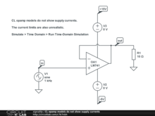 CL opamp models do not show supply currents