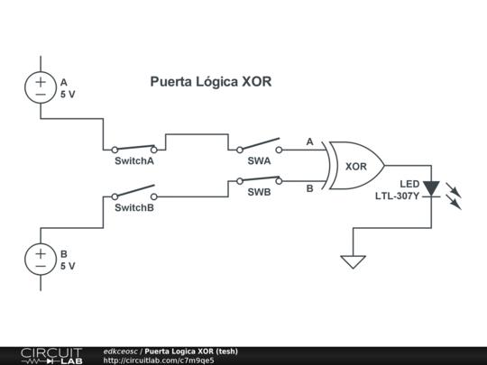Puerta logica xor tesh circuitlab for Simbolo puerta xor