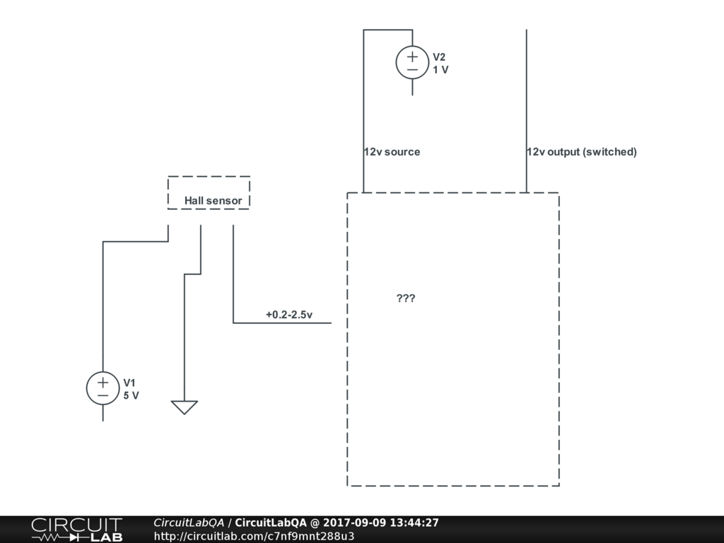 Control 12v Circuit With Hall Sensor Electronics Qa Circuitlab Avatar For Davegus91