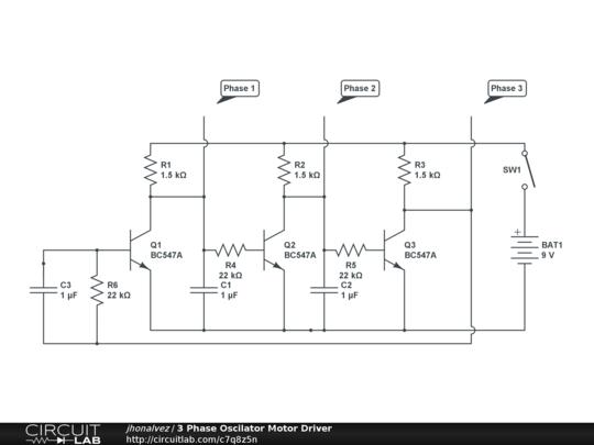3 Phase Oscilator Motor Driver - CircuitLab