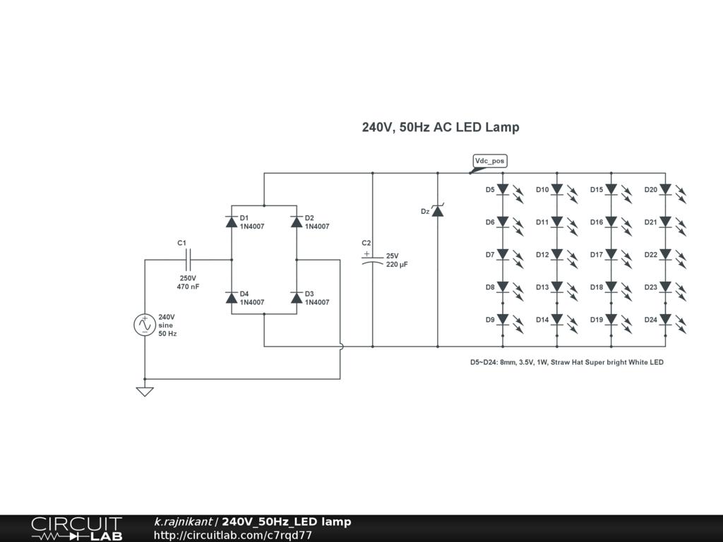 Small Led Lamp Circuit Diagram