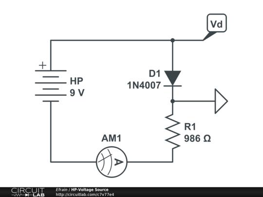 hp-voltage source