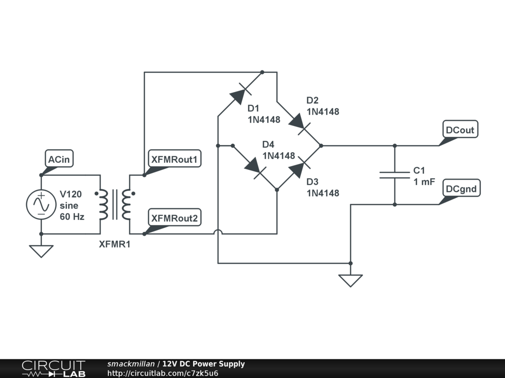 Schematic Diagram Of 12v Dc Power Supply