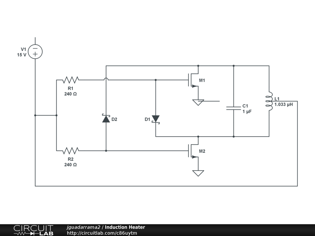 Induction Heater Circuitlab Circuits Circuit