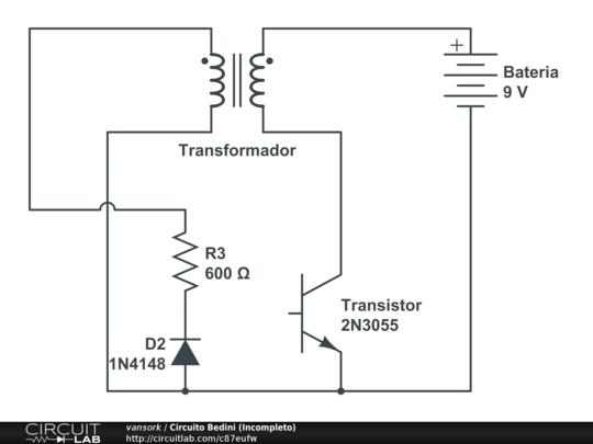 Circuito Motor Bedini : Circuito bedini incompleto circuitlab