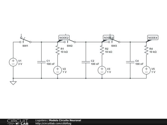 Circuito Neuronal : Modelo circuito neuronal circuitlab