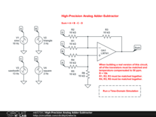 High-Precision Analog Adder-Subtractor
