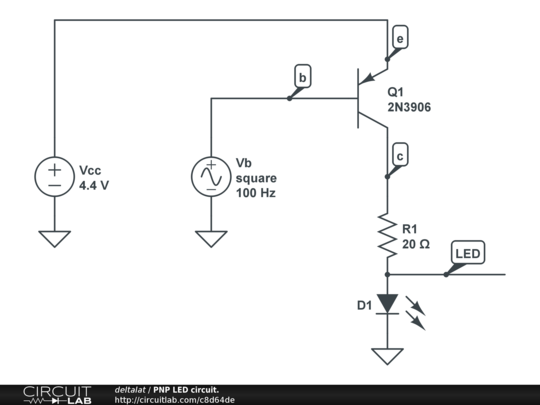 pnp led circuit