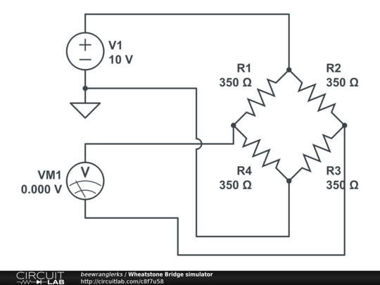 wheatstone bridge simulator