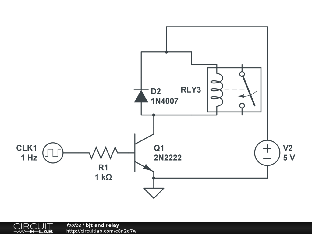 Public Circuits Tagged Relay Circuitlab Logic Circuit Simulator Bjt And