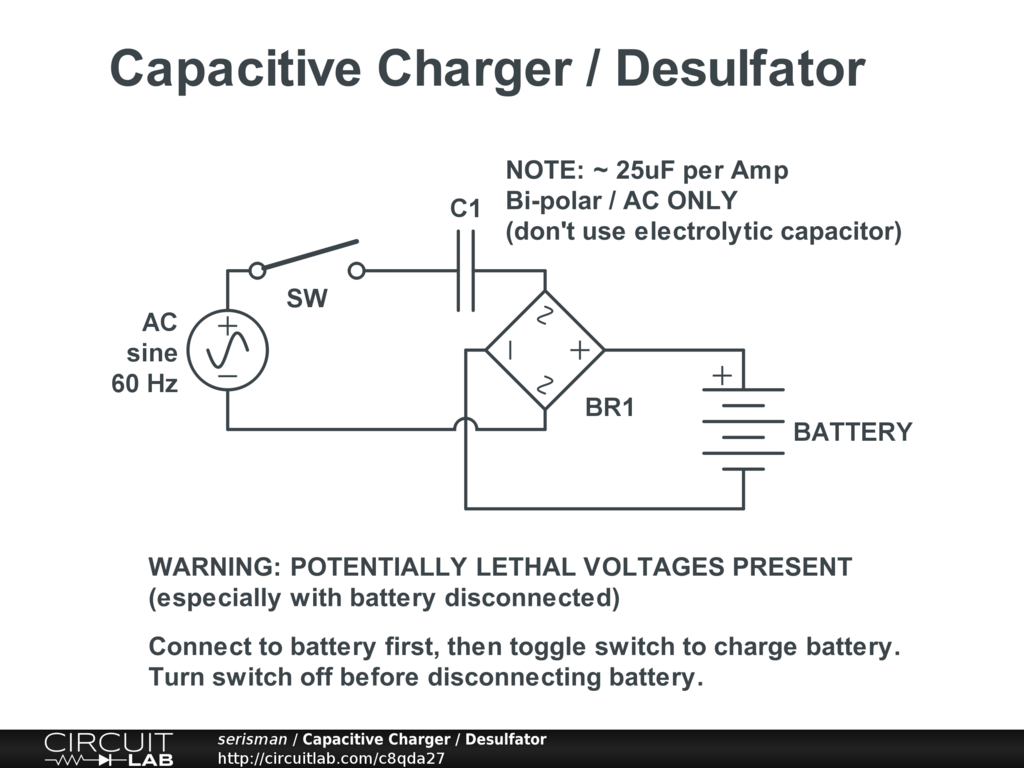 Capacitive Charger Desulfator Circuitlab Switch Circuit