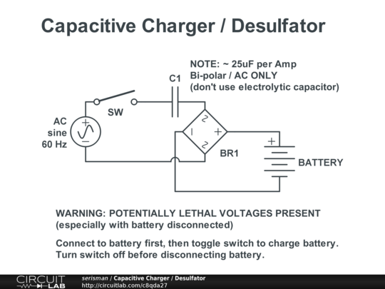Capacitive Charger    Desulfator