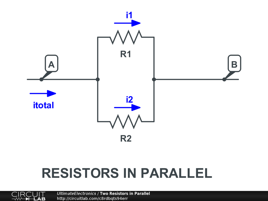 Resistors In Series Parallel Ultimate Electronics Book Electrical Dc And Circuit Learn Engineering Study Vabi1r1i2r2