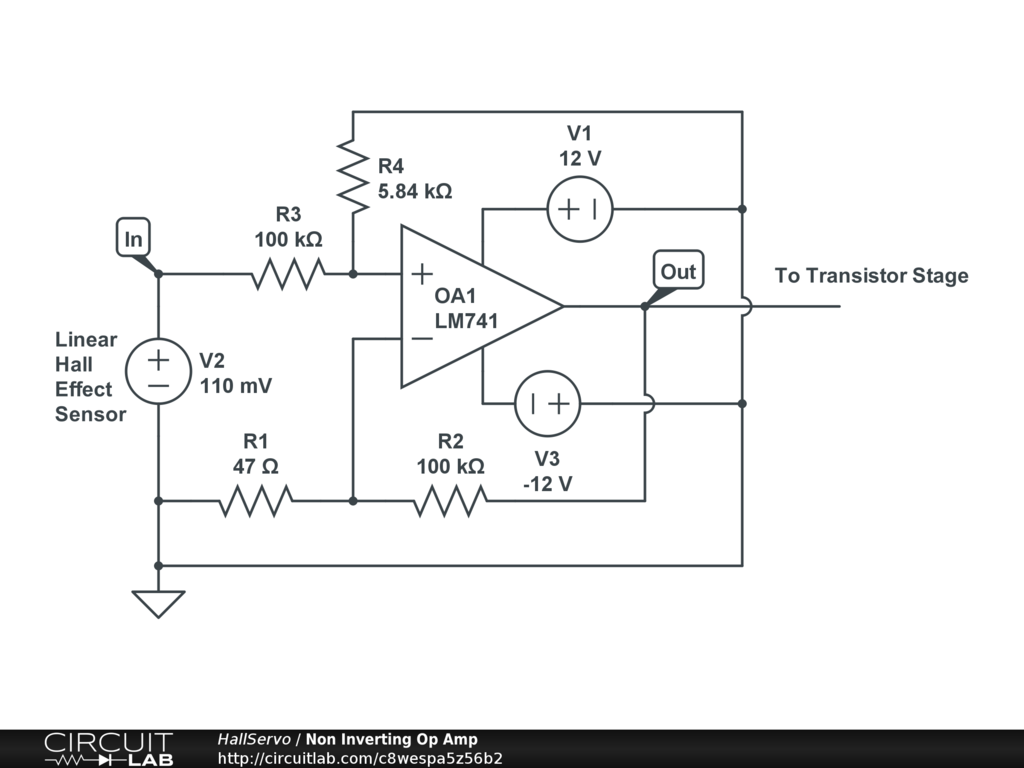 Linear Hall Effect Circuit Analog Design Circuitlab Diagramscircuitlab Online Schematic Editor