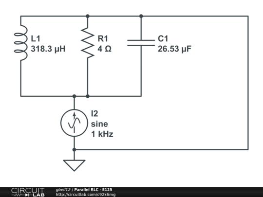 parallel rlc - e125