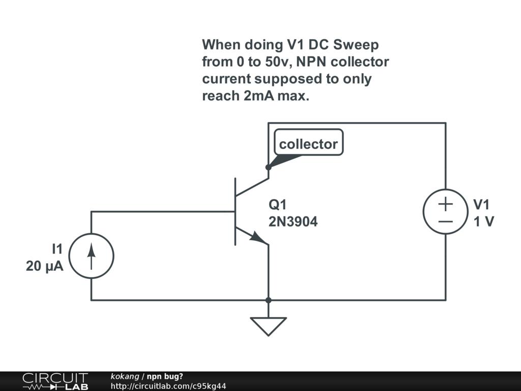 Npn Transistor Bug Circuitlab Support Forum Screenshot Of Circuit In Falstad Simulator Avatar For Kokang