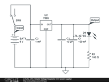 Simple Voltage Regulator (5 V power supply)