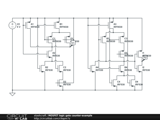 mosfet logic gate counter-example