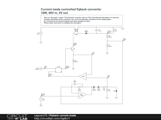Flyback converter current mode control.