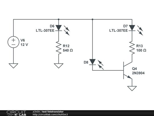 test fototransistor