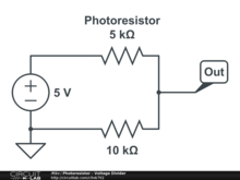 Photoresistor - Voltage Divider