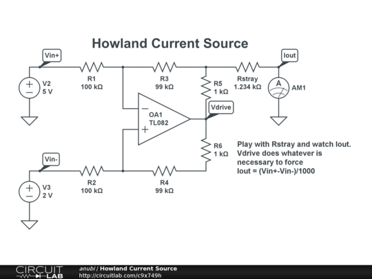 Howland Current Source - CircuitLab  Howland Current...