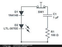 Light up switch circuit