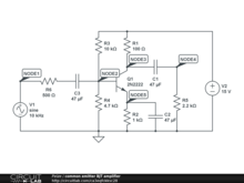 common emitter BJT amplifier