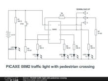 PICAXE traffic light with pedestrian crossing