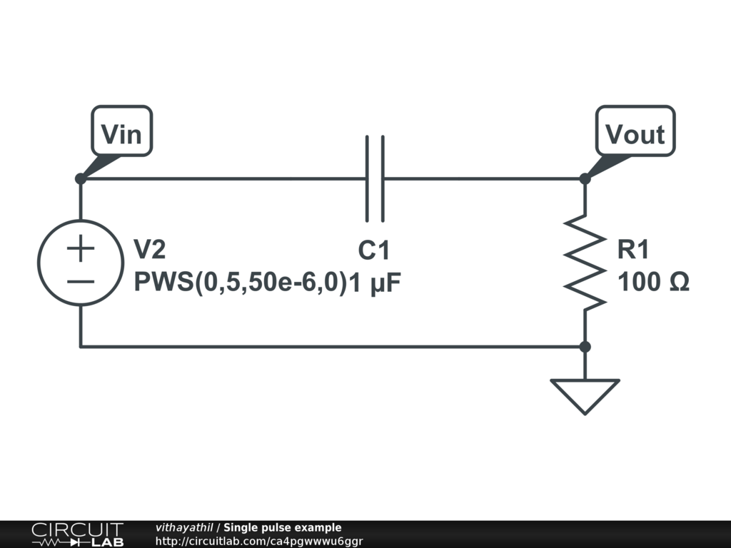 Single Pulse Circuit Speed Functiongenerator Diagram Tradeoficcom Example Circuitlab 1024x768