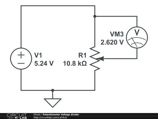 potentiometer voltage divider