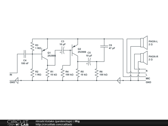 iRig - CircuitLab Irig Schematic on
