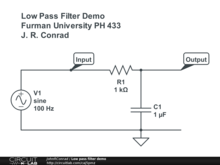 Low pass filter demo